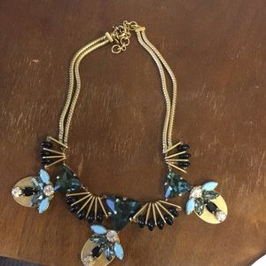 J.Crew blue and green necklace